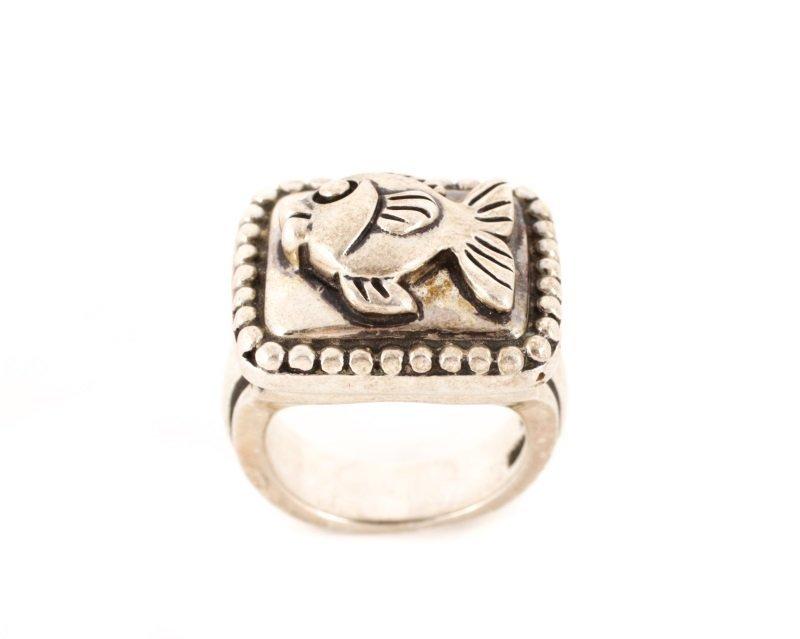 Kieselstein-Cord Fish Motif Sterling Ring