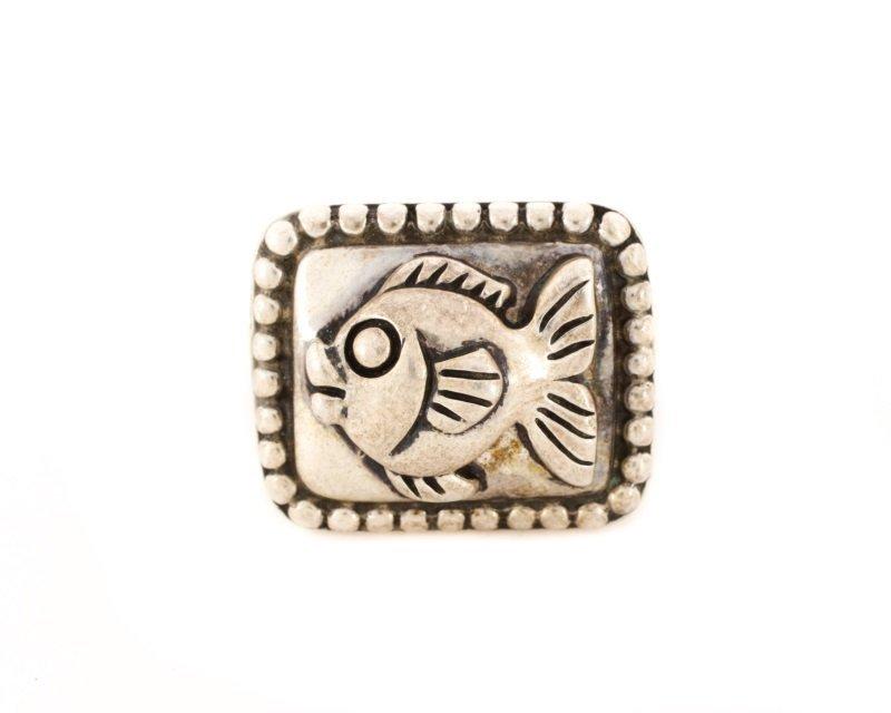 Kieselstein-Cord Fish Motif Sterling Ring - 2