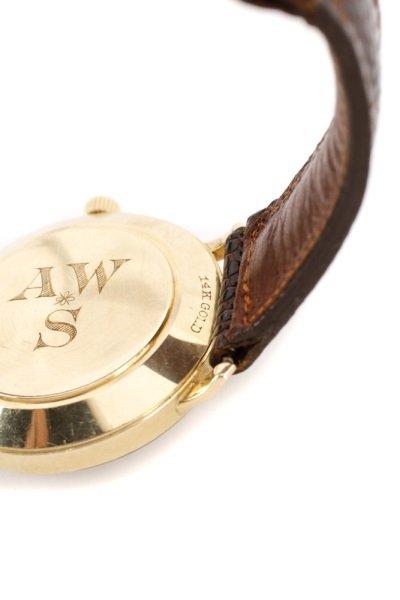Tiffany & Co. Gent's Watch w/ Brown Lizard Band - 5