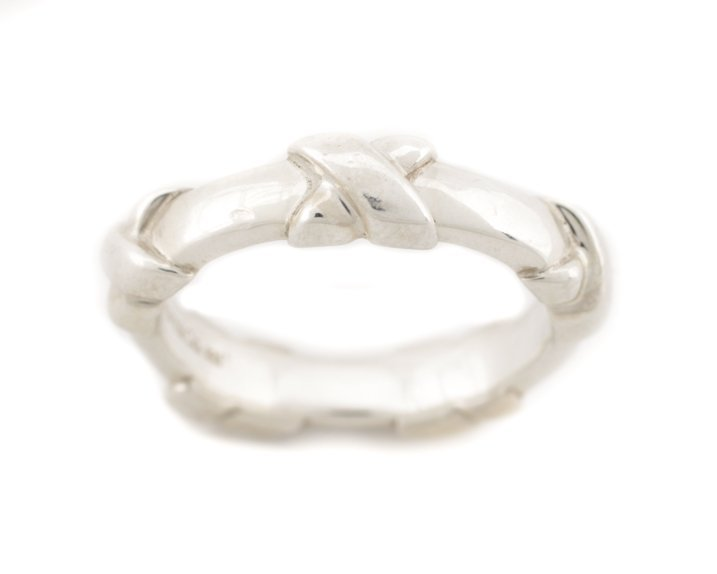 Tiffany & Co. Sterling Signature X Eternity Band