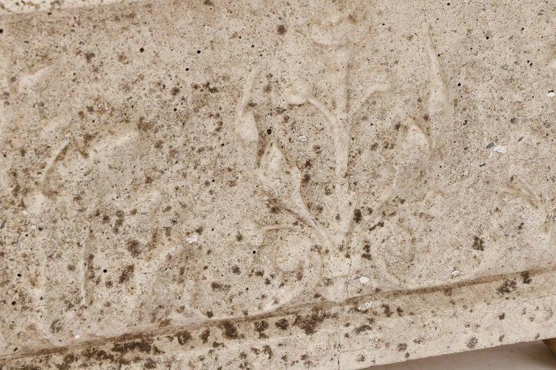 Pair, Continental Rectangular Cast Stone Planters - 2