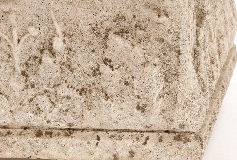 Pair, Continental Rectangular Cast Stone Planters - 3