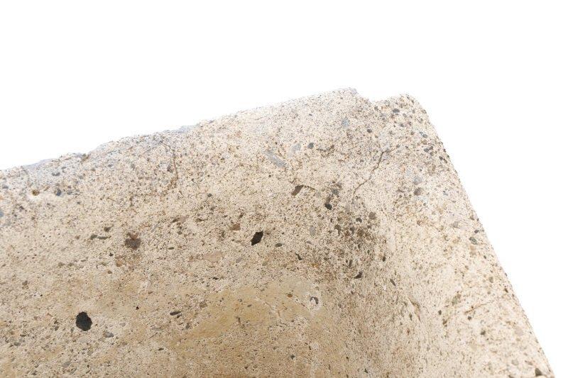Pair, Continental Rectangular Cast Stone Planters - 6