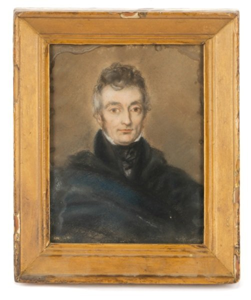 Early 19th Century, Boston School, Pastel Portrait
