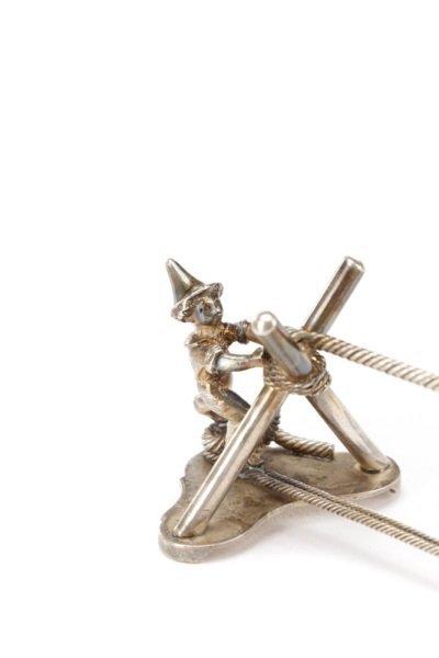 Gorham Sterling Silver Figural Knife Rest, 19th C - 3