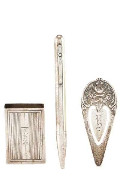 Group of 3 Sterling Silver Desk/Table Accessories
