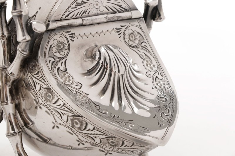 English Victorian Plated Sugar Scuttle, 19th C - 2