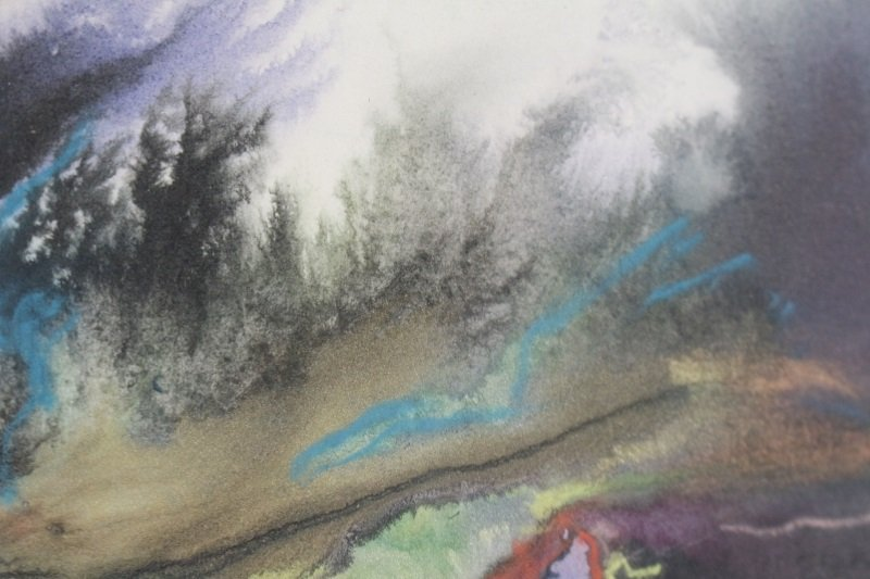 """Marsh Study"", Gouache & Pastel, Joanne Currah - 2"