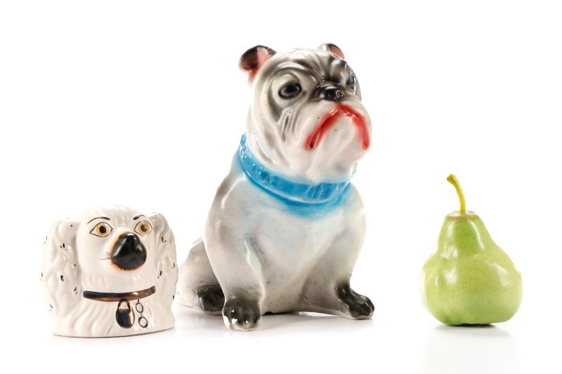 Two English Pottery Dog Form Piggy Banks - 9
