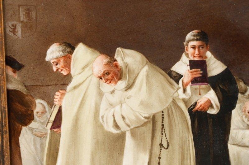 "Italian School, ""Catholic Mass"", Oil On Porcelain - 3"