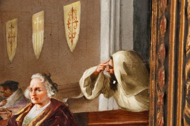 "Italian School, ""Catholic Mass"", Oil On Porcelain - 5"
