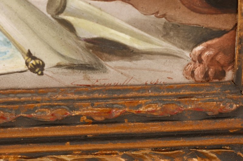 "Italian School, ""Catholic Mass"", Oil On Porcelain - 8"