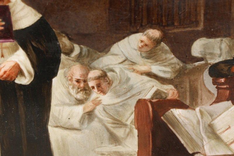 "Italian School, ""Catholic Mass"", Oil On Porcelain - 9"