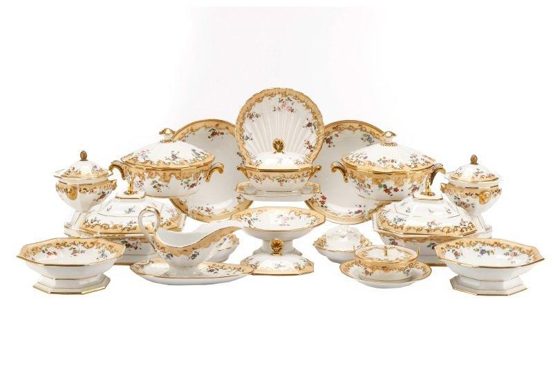17 Old Paris Porcelain Serving Dishes, 19 C