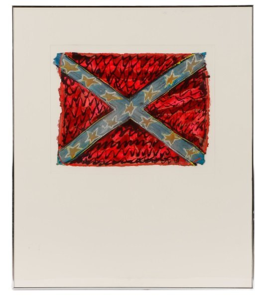 "Adrienne Anderson Mixed Media Work, ""Rebel Flag"""