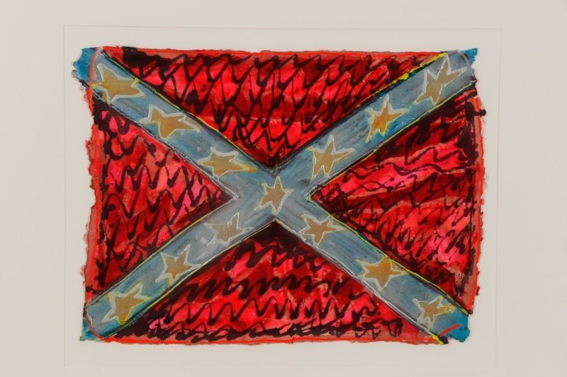 "Adrienne Anderson Mixed Media Work, ""Rebel Flag"" - 2"