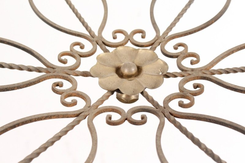 French Bronze & Iron 6 Light Chandelier - 6