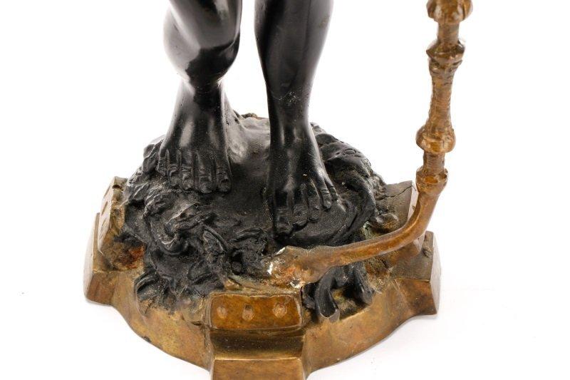 Pair of Bronze Blackamoor Figural Candlesticks - 5