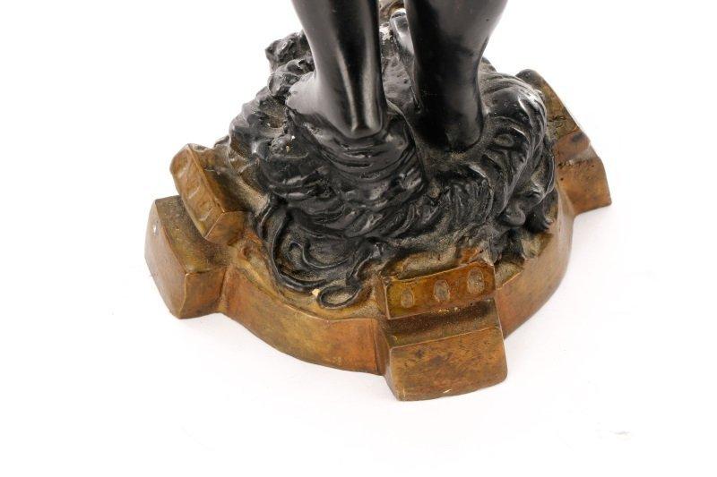 Pair of Bronze Blackamoor Figural Candlesticks - 8