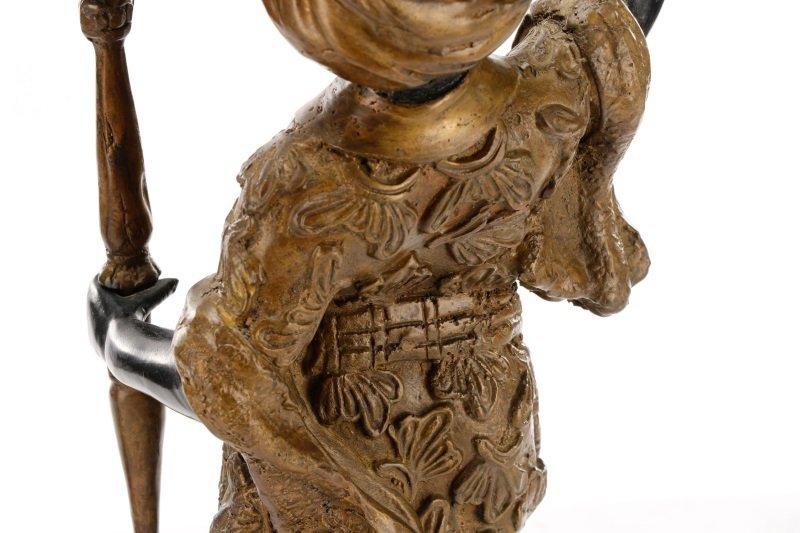 Pair of Bronze Blackamoor Figural Candlesticks - 9