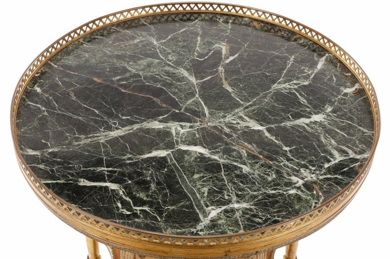 French Empire Style Marble & Gilt Bronze Gueridon - 2