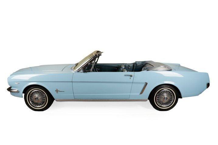 1964 1/2 Ford Mustang Skylight Blue Convertible