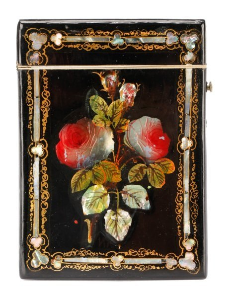 Russian Black Lacquer & MOP Cigarette Case