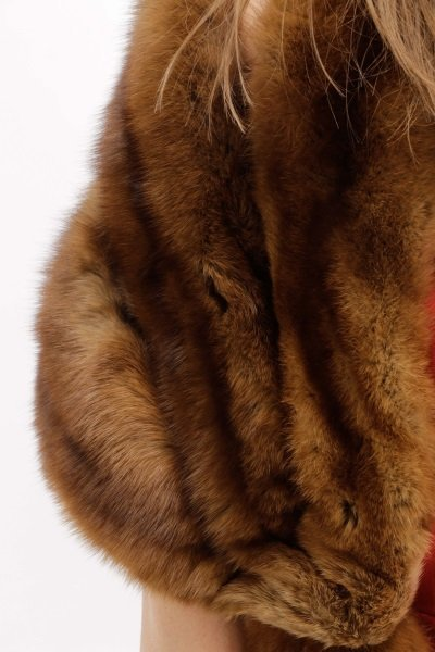 Switzer's Fur Vintage Brown Mink Stole or Wrap - 3