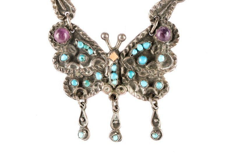Suite of Vintage Silver and Turquoise Jewelry - 2