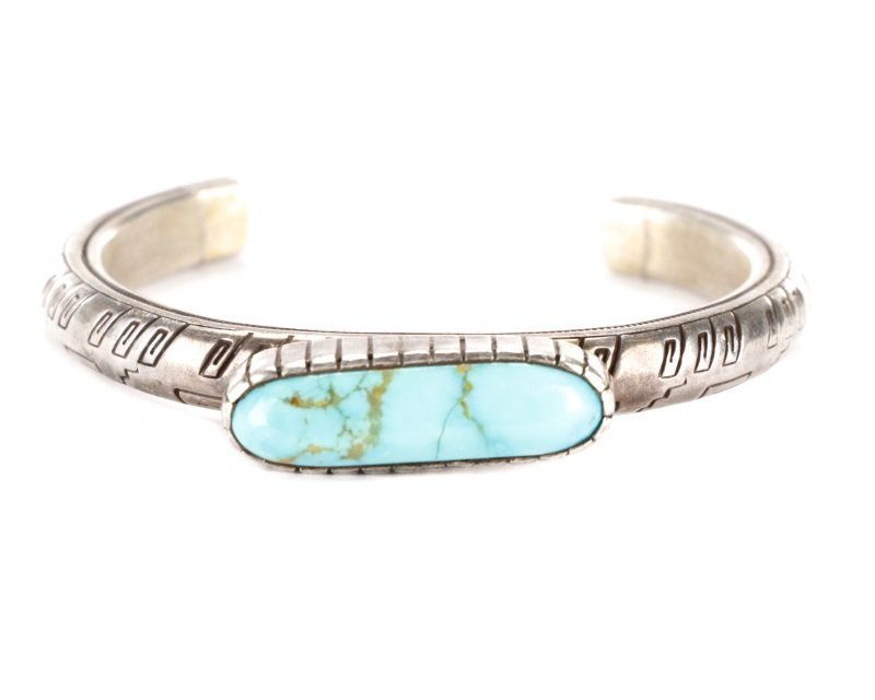 Suite of Vintage Silver and Turquoise Jewelry - 4