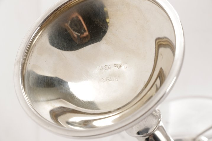 Set of 12 Spanish Silver Saucer Champagnes - 4