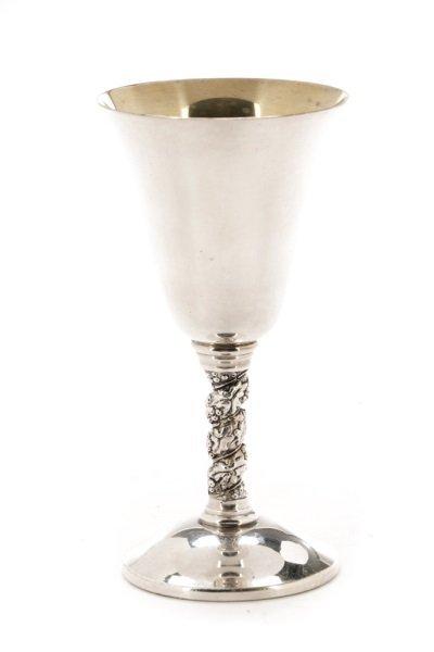 Set of 22 Spanish Silver Goblets w/Grapevine Stem - 4