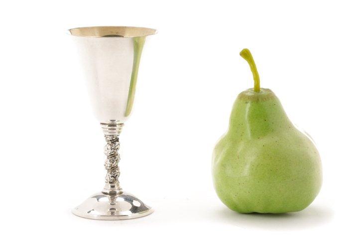 Set of 22 Spanish Silver Goblets w/Grapevine Stem - 8