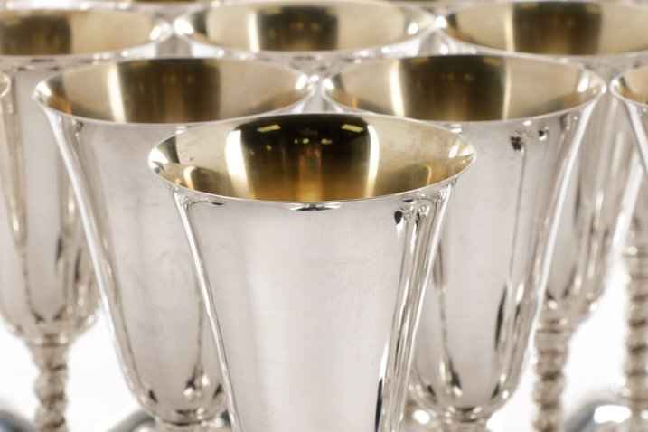 Set of 23 Spanish Silver Water Goblets - 2