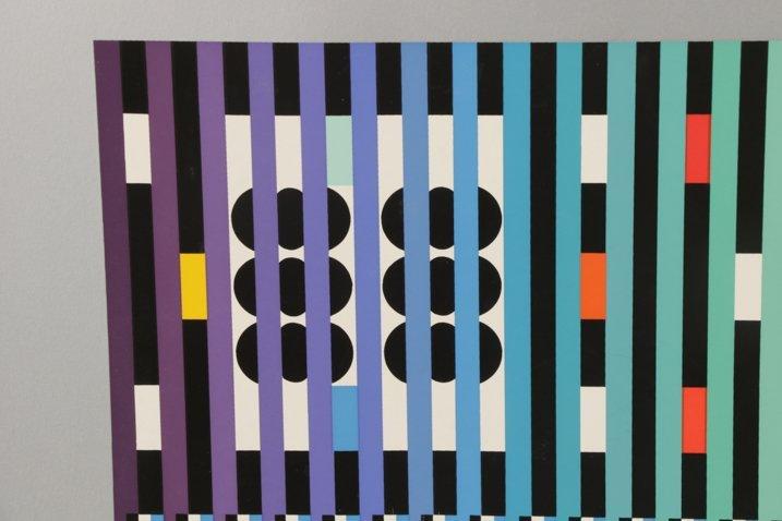 Unframed Abstract Yaacov Agam Serigraph - 2