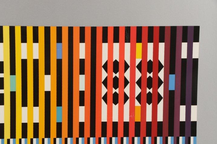 Unframed Abstract Yaacov Agam Serigraph - 3