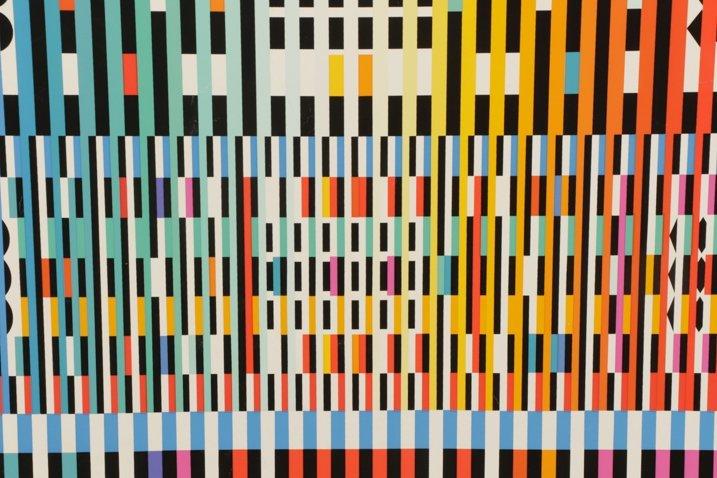 Unframed Abstract Yaacov Agam Serigraph - 4
