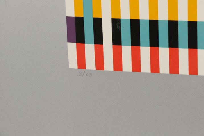 Unframed Abstract Yaacov Agam Serigraph - 7