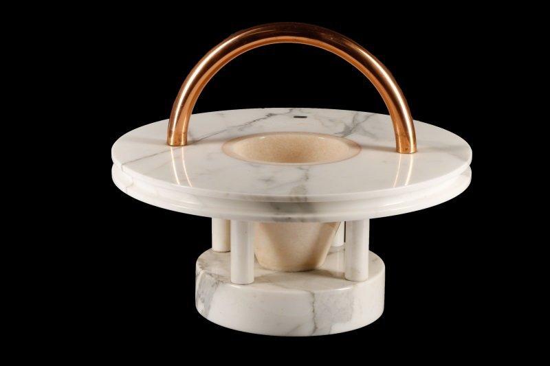 Ettore Sottsass 'Gaya' Marble Fruitbowl Sculpture