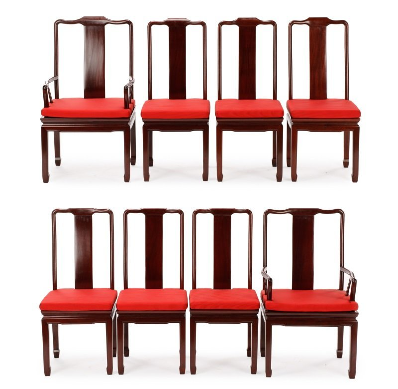 Eight Style of James Mont for Baker Dining Chairs
