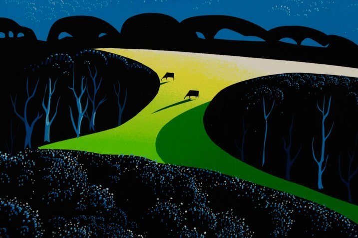"Eyvind Earle,""Quiet Pastures""-1996 - 5"