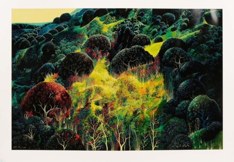 "Eyvind Earle,""Untitled (Magical Clearing)""-1990"
