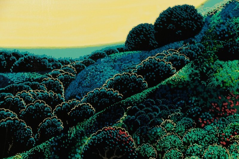 "Eyvind Earle,""Untitled (Magical Clearing)""-1990 - 2"