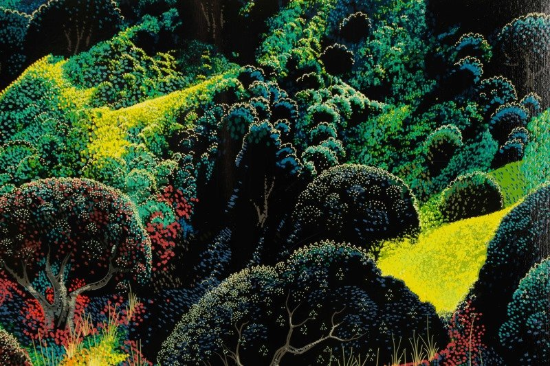 "Eyvind Earle,""Untitled (Magical Clearing)""-1990 - 3"