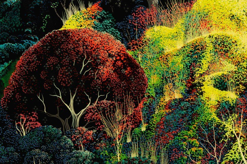 "Eyvind Earle,""Untitled (Magical Clearing)""-1990 - 4"
