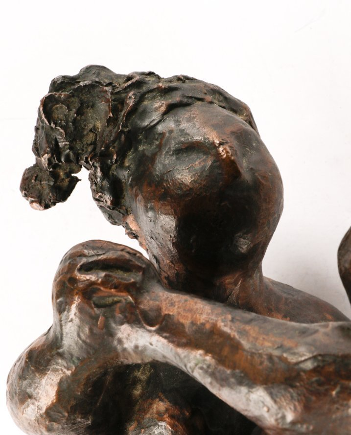 "American, ""Mother And Child"", Bronze Sculpture - 3"