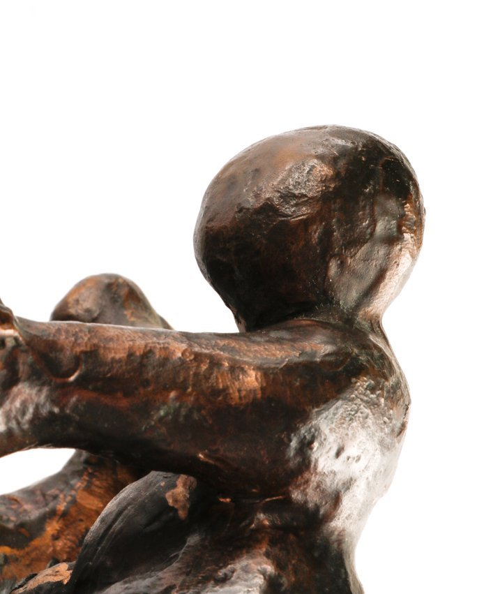 "American, ""Mother And Child"", Bronze Sculpture - 4"