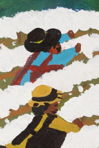 """Bernice Sims, """"Cotton Fields"""", Oil on Artist Board - 2"""