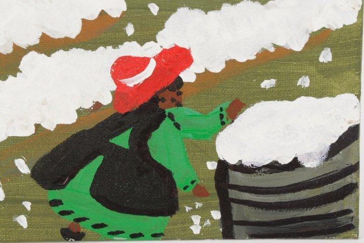 """Bernice Sims, """"Cotton Fields"""", Oil on Artist Board - 4"""