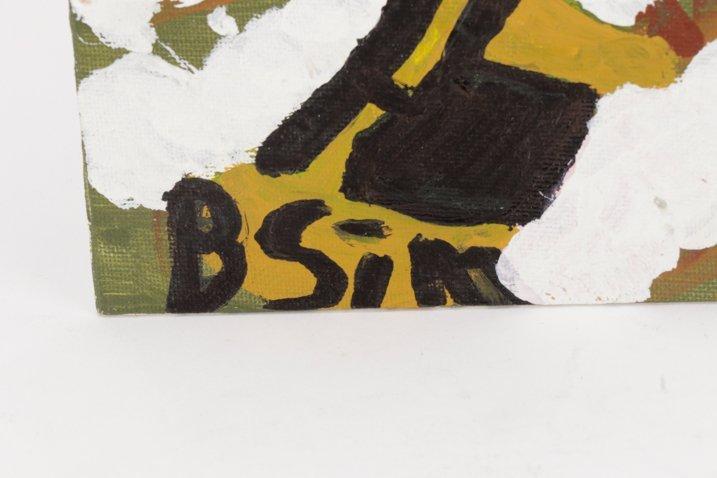 """Bernice Sims, """"Cotton Fields"""", Oil on Artist Board - 5"""